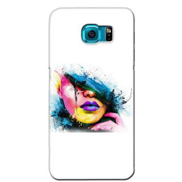 Snooky 36253 Digital Print Hard Back Case Cover For Samsung Galaxy S6 Edge - White