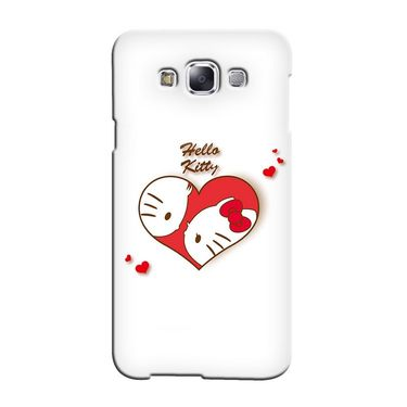 Snooky 36300 Digital Print Hard Back Case Cover For Samsung Galaxy A3 - White