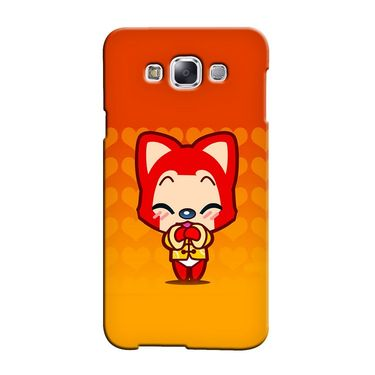 Snooky 36361 Digital Print Hard Back Case Cover For Samsung Galaxy A5 - Orange