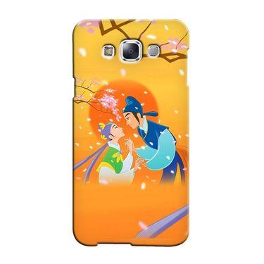 Snooky 36418 Digital Print Hard Back Case Cover For Samsung Galaxy E5 - Orange