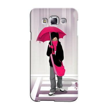 Snooky 36424 Digital Print Hard Back Case Cover For Samsung Galaxy E5 - Multicolour