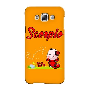 Snooky 36434 Digital Print Hard Back Case Cover For Samsung Galaxy E5 - Yellow
