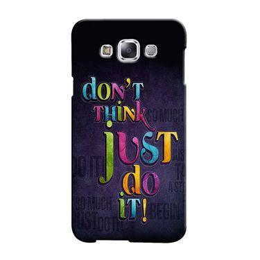 Snooky 36441 Digital Print Hard Back Case Cover For Samsung Galaxy E5 - Black