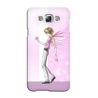 Snooky 36471 Digital Print Hard Back Case Cover For Samsung Galaxy E7 - Pink