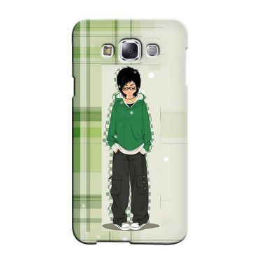 Snooky 36475 Digital Print Hard Back Case Cover For Samsung Galaxy E7 - Green