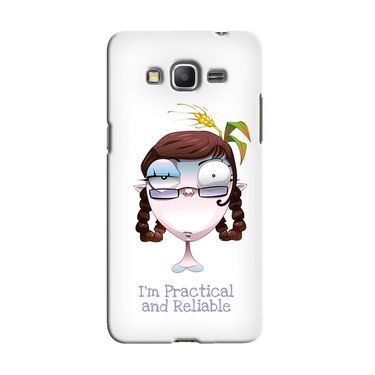 Snooky 36596 Digital Print Hard Back Case Cover For Samsung Galaxy Grand Prime - White
