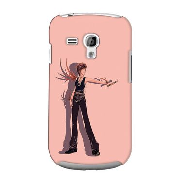 Snooky 36822 Digital Print Hard Back Case Cover For Samsung Galaxy S3 Mini - Mehroon
