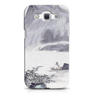 Snooky 38215 Digital Print Hard Back Case Cover For Samsung Galaxy Grand Quattro GT-I8552 - Grey