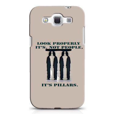 Snooky 38249 Digital Print Hard Back Case Cover For Samsung Galaxy Grand Quattro GT-I8552 - Cream