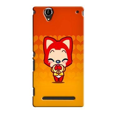 Snooky 36911 Digital Print Hard Back Case Cover For Sony Xperia T2 Ultra - Orange