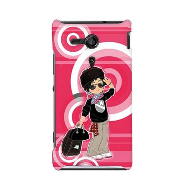 Snooky 36929 Digital Print Hard Back Case Cover For Sony Xperia SP - Rose Pink