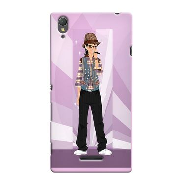 Snooky 36973 Digital Print Hard Back Case Cover For Sony Xperia T3 - Pink