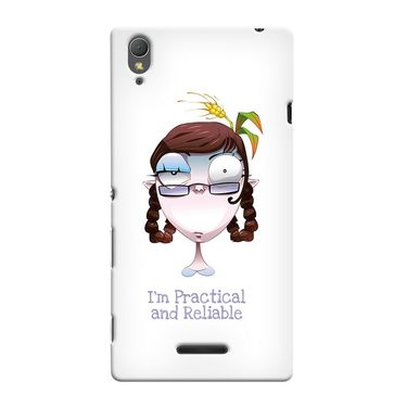 Snooky 36996 Digital Print Hard Back Case Cover For Sony Xperia T3 - White