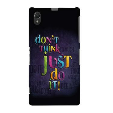 Snooky 37091 Digital Print Hard Back Case Cover For Sony Xperia Z1 - Black