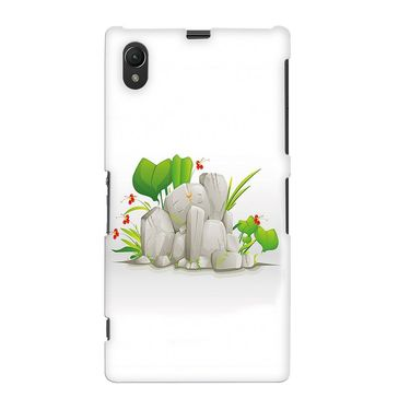 Snooky 37105 Digital Print Hard Back Case Cover For Sony Xperia Z1 - White