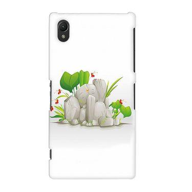Snooky 37155 Digital Print Hard Back Case Cover For Sony Xperia Z2 - White