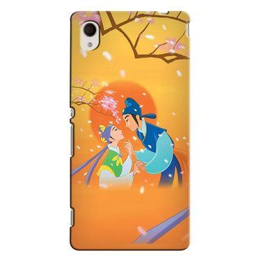 Snooky 37818 Digital Print Hard Back Case Cover For Sony Xperia M4 AQUA DUAL - Orange