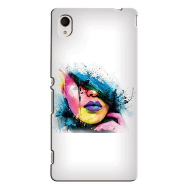 Snooky 37853 Digital Print Hard Back Case Cover For Sony Xperia M4 AQUA DUAL - White