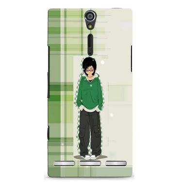 Snooky 37875 Digital Print Hard Back Case Cover For Sony Xperia S - Green