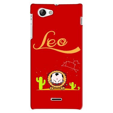 Snooky 38681 Digital Print Hard Back Case Cover For Sony Xperia J - Red