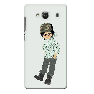 Snooky 36000 Digital Print Hard Back Case Cover For Xiaomi Redmi 2s - Green