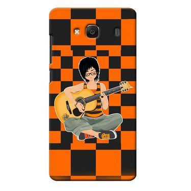 Snooky 36007 Digital Print Hard Back Case Cover For Xiaomi Redmi 2s - Black