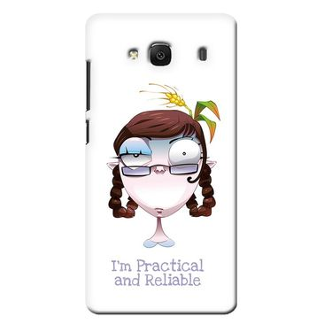 Snooky 36026 Digital Print Hard Back Case Cover For Xiaomi Redmi 2s - White