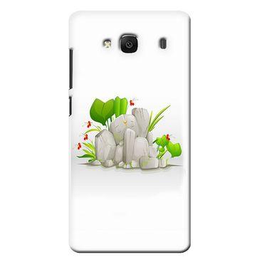 Snooky 36035 Digital Print Hard Back Case Cover For Xiaomi Redmi 2s - White
