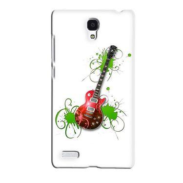 Snooky 36081 Digital Print Hard Back Case Cover For Xiaomi Redmi Note - White