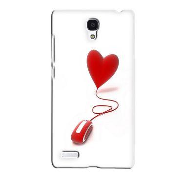Snooky 36082 Digital Print Hard Back Case Cover For Xiaomi Redmi Note - White