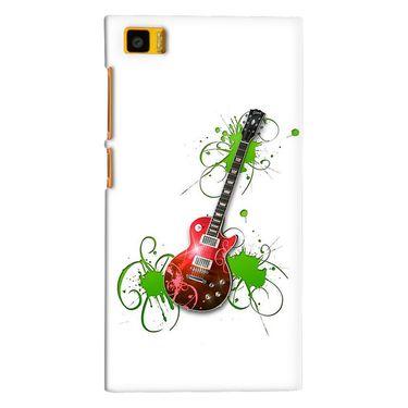 Snooky 38401 Digital Print Hard Back Case Cover For Xiaomi MI3 - White