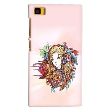 Snooky 38408 Digital Print Hard Back Case Cover For Xiaomi MI3 - Multicolour