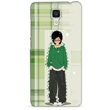 Snooky 38425 Digital Print Hard Back Case Cover For Xiaomi MI 4 - Green