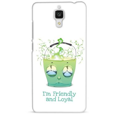 Snooky 38447 Digital Print Hard Back Case Cover For Xiaomi MI 4 - White