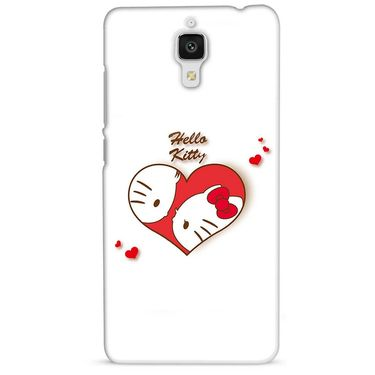 Snooky 38450 Digital Print Hard Back Case Cover For Xiaomi MI 4 - White