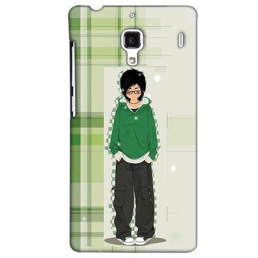 Snooky 38475 Digital Print Hard Back Case Cover For Xiaomi Redmi 1S - Green