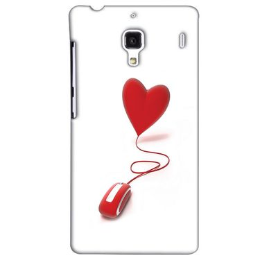 Snooky 38502 Digital Print Hard Back Case Cover For Xiaomi Redmi 1S - White