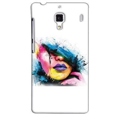 Snooky 38503 Digital Print Hard Back Case Cover For Xiaomi Redmi 1S - White