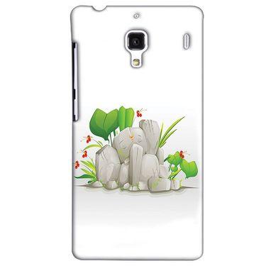 Snooky 38505 Digital Print Hard Back Case Cover For Xiaomi Redmi 1S - White