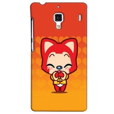 Snooky 38511 Digital Print Hard Back Case Cover For Xiaomi Redmi 1S - Orange