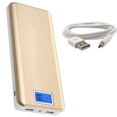 UNIC 24000mAh Dual USB with Display Powerbank Portable Charger for Mobile Tablet UN82 - Golden