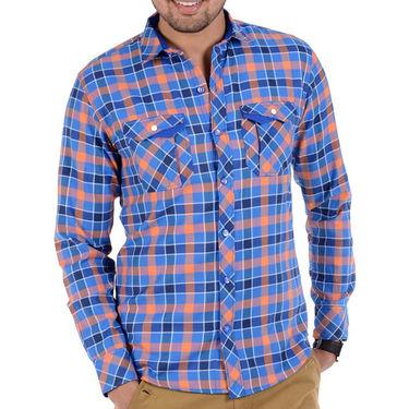 Bendiesel Checks Cotton Shirt_Bdc077 - Blue & Pink