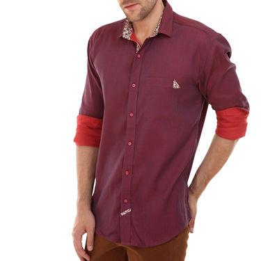 Bendiesel Plain Cotton Shirt_Bdc099 - Red