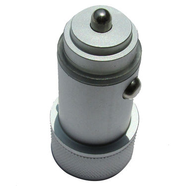 Flashmob C411CC Mattel Bullet Dual USB Car Charger - Silver