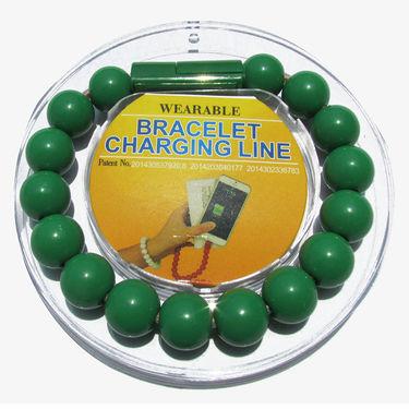 Flashmob C418CC Bracelet Type Micro USB Charging Cable - Green