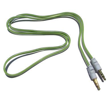 Flashmob C428AU Jelly Flat Aux Cable - Green