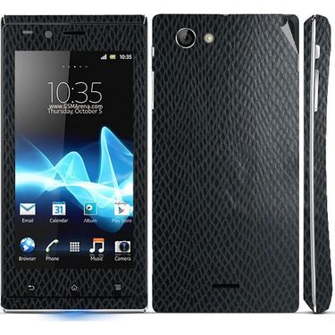Snooky 18757 Mobile Skin Sticker For Sony Xperia J - Black