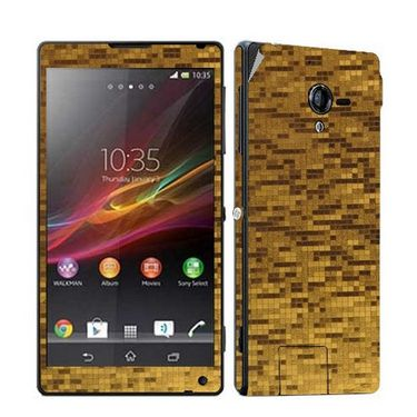 Snooky 19180 Mobile Skin Sticker For Sony Xperia ZL - Golden