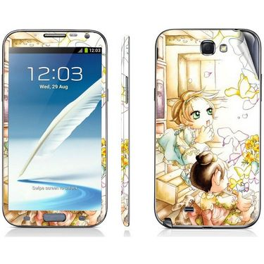 Snooky 39461 Digital Print Mobile Skin Sticker For Samsung Galaxy Note 2 N7100 - White