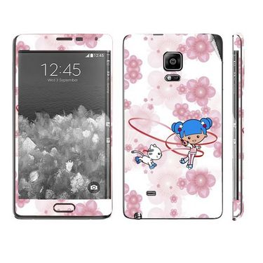 Snooky 39508 Digital Print Mobile Skin Sticker For Samsung Galaxy Note EDGE - White